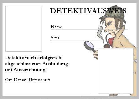 Detektivausweis ausdrucken