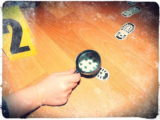 Spurensicherung beim Kindergeburtstag am Tatort