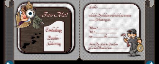 Einladung für Deinen Detektiv Geburtstag – kostenlos downloaden