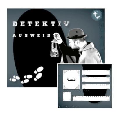 Detektivausweis für Junior Detektive. Ausweis ausdrucken und basteln.