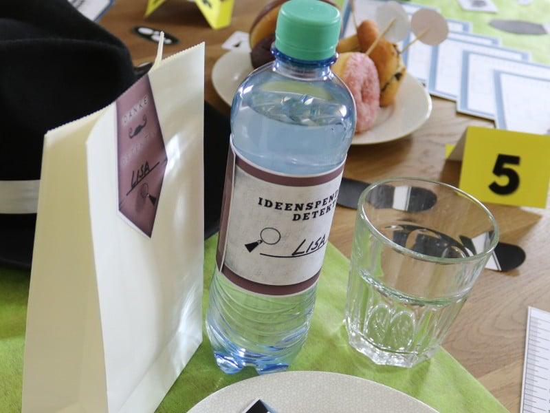 Detektiv Flaschenbanderole - Ideenspender - Banderole