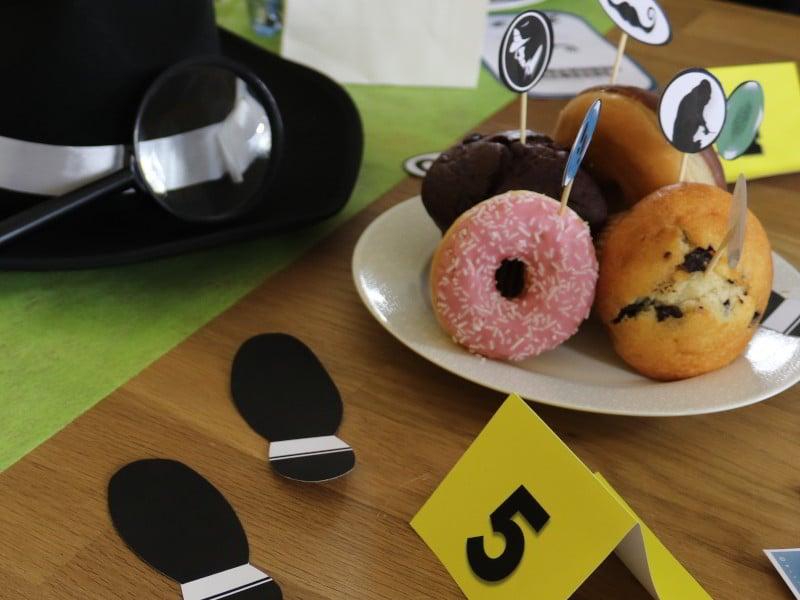 Detektiv Dekoration - Muffin Fähnchen - Deko Picker - Topper