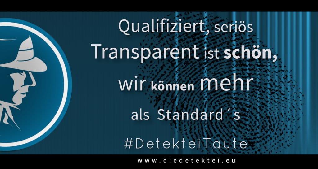 Mehr als Standards - Detektei Taute