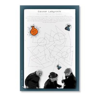 Detektiv Bilderrätsel für Kinder Detektive - Gauner Labyrinth