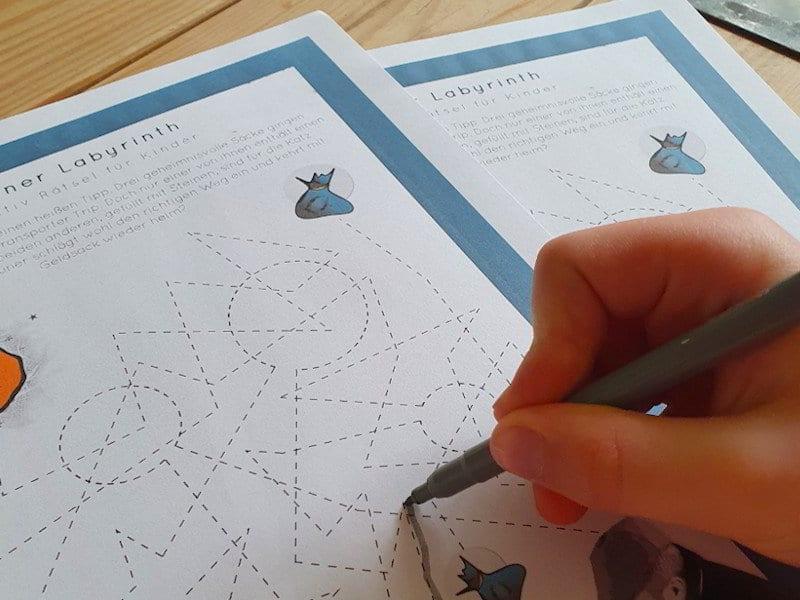 Detektiv Rätsel für Kinder - Gauner Labyrinth