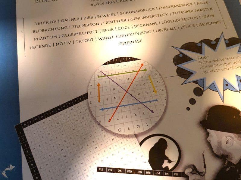 Detektiv Buchstabenrätsel - Wörterrätsel - Buchstabensalat