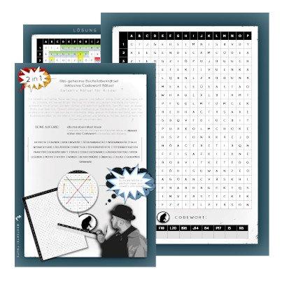 Rätsel für Kinder Detektive - Geheimes Detektiv Buchstabenrätsel
