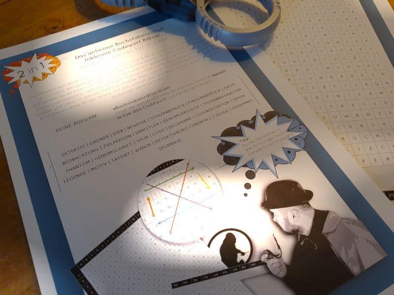 Rätsel für Kinder Detektive - Detektiv-Rätsel - Buchstabenrätsel