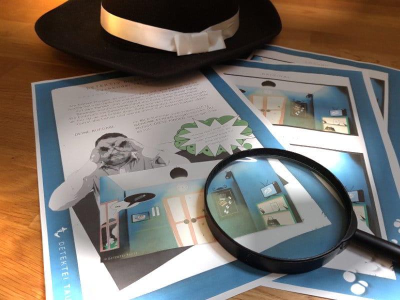 Suchbild - Bilderrätsel - Detektiv Kinder Rätsel