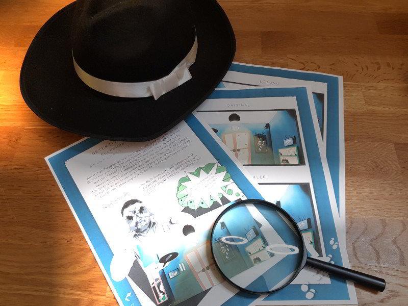 Detektiv Suchbild - Kinder Detektiv Bilderrätsel