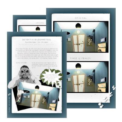 Detektiv Bilderrätsel - Suchbilder für Kinder Detektive
